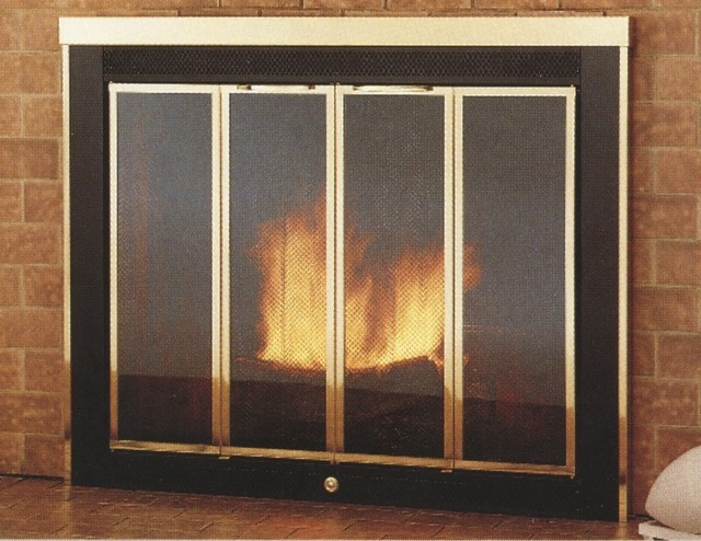 ... Traditional Track Hearth Craft Fireplace Glass Door - Custom Product