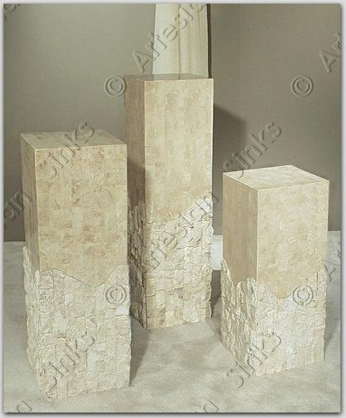 Hand Crafted Grey Granite Stone Columns  outdoor products