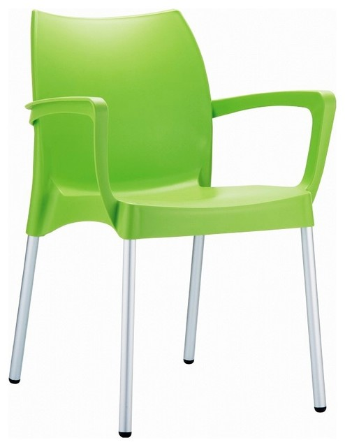 dolce resin outdoor arm chair apple green set of 4