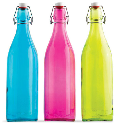 Colored Bottles contemporary-decorative-accents