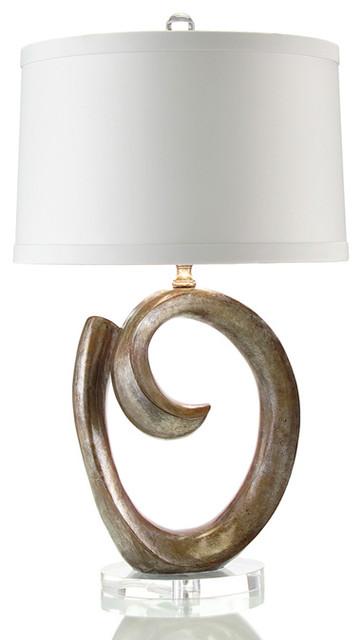 "John Richard 30"" Urban Bronze Sculpture Lamp contemporary-table-lamps"