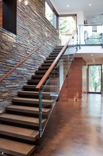 Martis Camp House contemporary-staircase