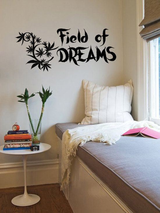 Vinyl Decals Field of Dreams Cannabis Leaf Home Wall Art Decor Removable Stylish -