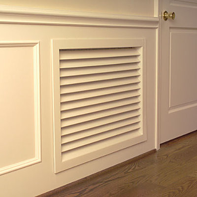 """Return Air Grille - 14""""L x 1""""W x 20""""H - Contemporary - Fireplaces - by Improvements Catalog"""