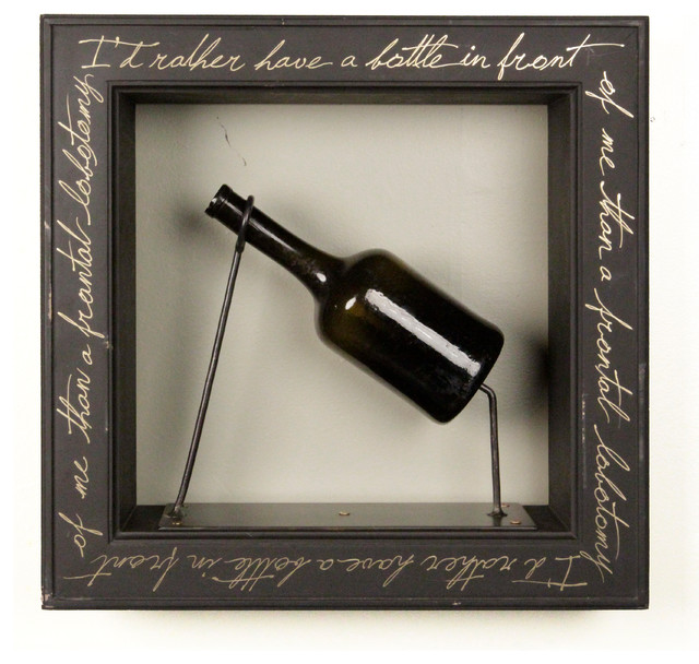 """""""I'd Rather Have a Bottle in Front of Me Than a Frontal Lobotomy"""" - Tom Waits eclectic-artwork"""