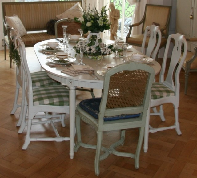 swedish antique gustavian dining table and chairs