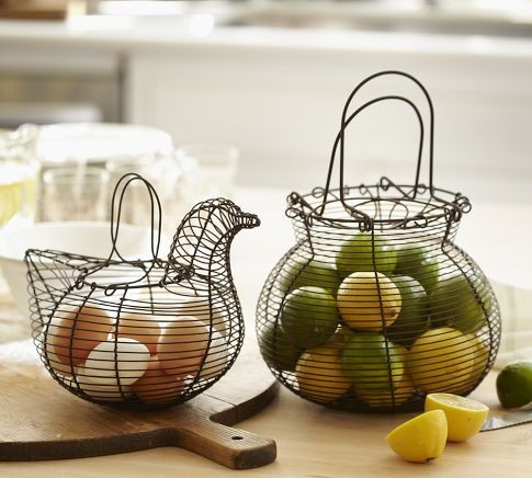 Wire Kitchen Baskets contemporary baskets