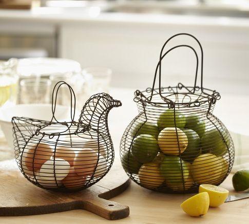 Wire Kitchen Baskets contemporary-baskets