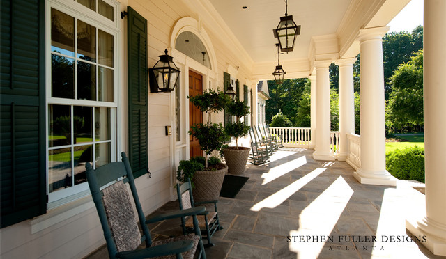A classic southern front porch traditional porch for Southern front porches