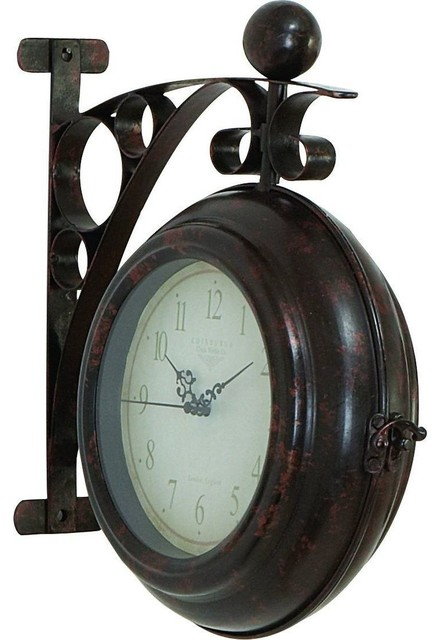 Metal Wall 2 Side Clock By The Experienced Technicians traditional-clocks