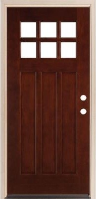 Legacy Doors M-43 Square Top Prefinished Mahogany Door  front doors