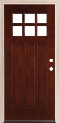 Legacy Doors M-43 Square Top Prefinished Mahogany Door front-doors