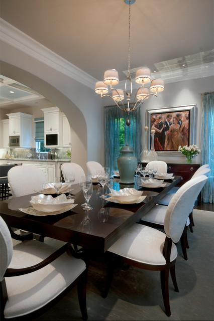 Transitional Eclectic Dining Room Other Metro By