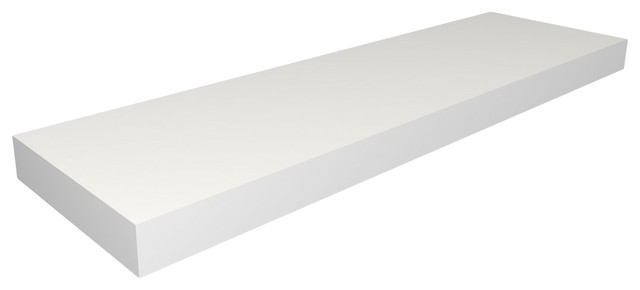 chicago floating shelf 60 white contemporary. Black Bedroom Furniture Sets. Home Design Ideas