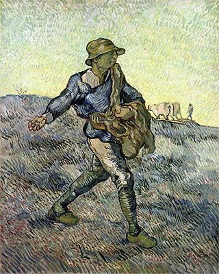 The Sower   Vincent van Gogh   Painting Reproduction artwork