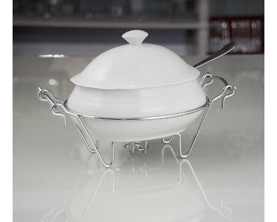 """Godinger """"Siena"""" Soup Tureen with Ladle, 2 Qt., Kitchen Accessory -"""