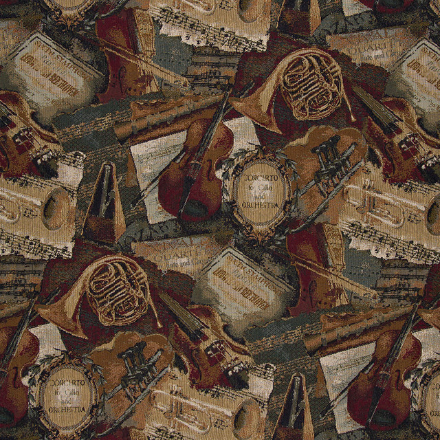 Orchestra Symphony Violins Trumpets Theme Tapestry