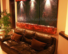 Slate Indoor Water Wall traditional-indoor-fountains