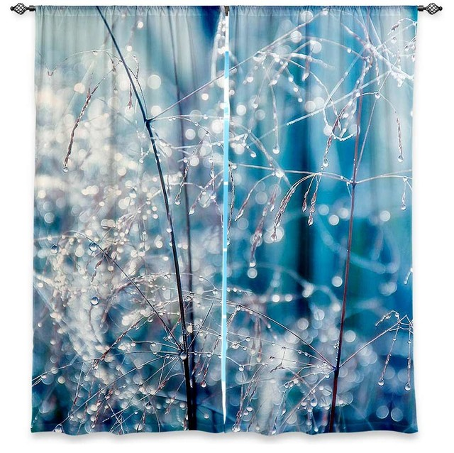 Window Curtains Lined by Monika Strigel Galaxy Dew contemporary-curtains