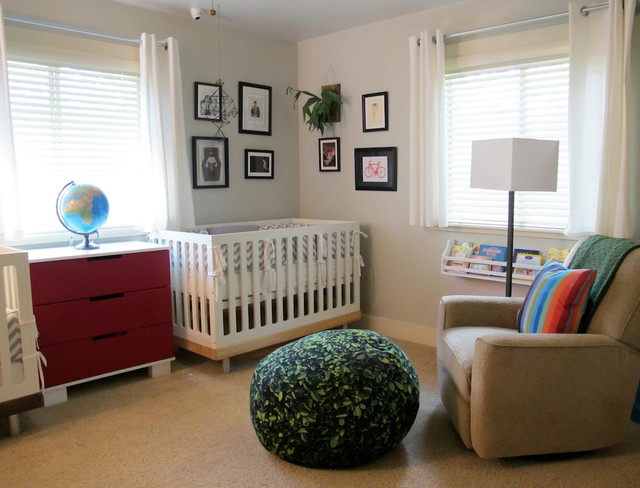Eclectic Modern Nursery contemporary-kids