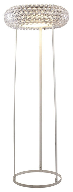 Caboche Style Acrylic Crystal Floor Lamp contemporary-floor-lamps