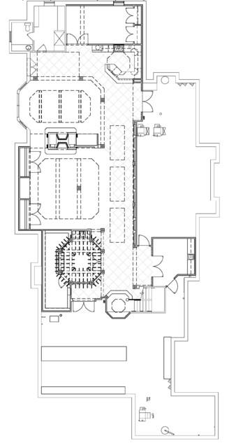 National award winning entertainment area wine cellar for Wine cellar floor plans