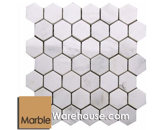 Calacatta Chiara Hexagon Marble Mosaic Calacatta Chiara Hexagon Marble Mosaic C -