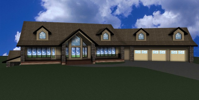 3D Renderings of our Designs & Stockplans traditional-exterior-elevation