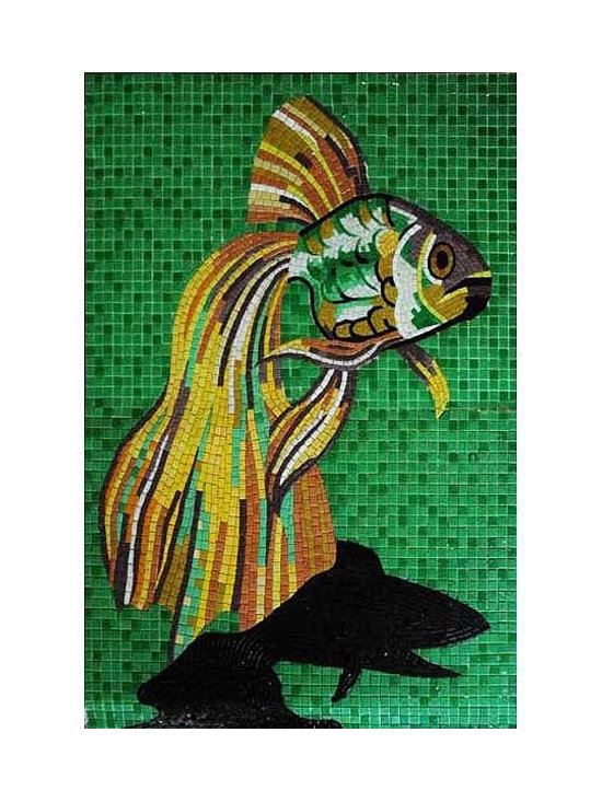 Glass tile mosaic for pool - glass tile mural or pool inlay