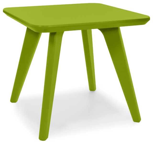 Satellite End Square 18 Table, Leaf Green contemporary-outdoor-tables