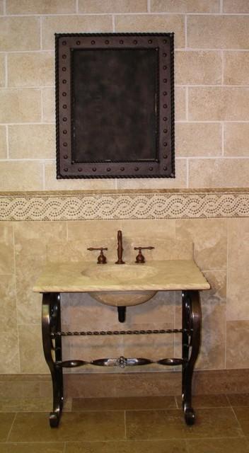 Wrought iron bathroom vanities cuzco freestanding bathroom vanity bases antique finish native for Wrought iron bathroom furniture