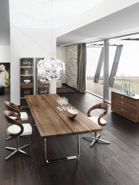 Nox Walnut Modern Dining Table - modern - dining tables - london ...