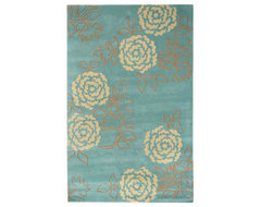 Wallflower Turquoise Rug contemporary rugs