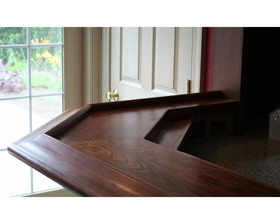 Brazilian Cherry with Chicago Bar Rail. Designed by Ruth Schoeneberger, Morris B - http://www.glumber.com/