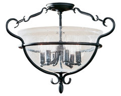 Sea Gull Lighting 7700-07 Manor House Weathered Iron Semi-Flush Mount  bathroom lighting and vanity lighting