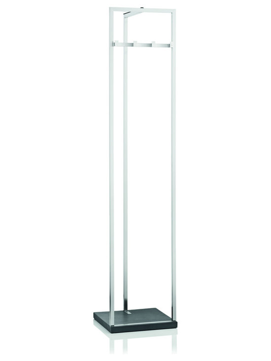 Blomus - Stainless Steel Menoto Coat Stand - The menoto coat stand by Blomus has a matte finish and a polystone base. This coat stand will keep your entry looking tidy and organized.