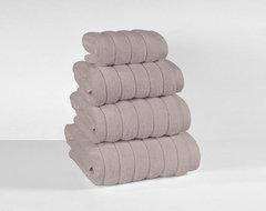 Microline Grey Luxurious 100% Cotton Towells modern-towels