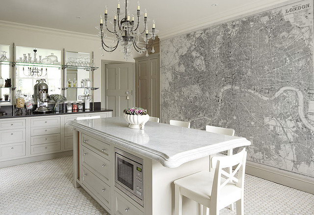 Custom Printed Map Wallpaper Murals Contemporary Wallpaper Vancouver By Majesty Maps