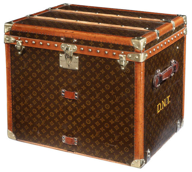 Louis Vuitton Cube Trunk - Traditional - Decorative Trunks - by 1stdibs