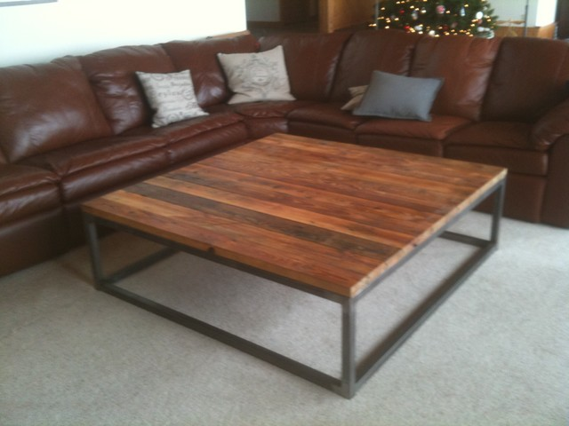Reclaimed Wood Bench Combined Tube Steel Base Home Lilys