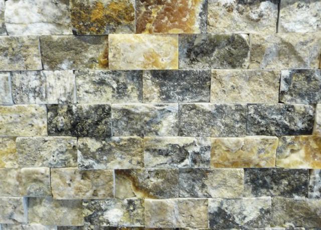 Travertine Onyx Slabs : Splitface collection mocha onyx travertine tile