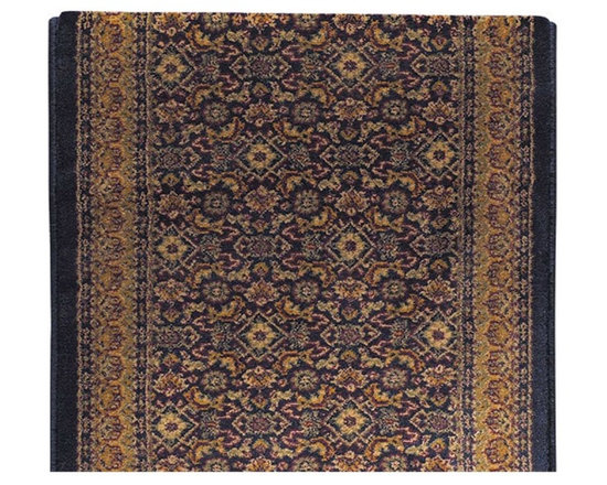 Renovators Supply - Carpet Runners Navy Polypropylene Carpet Runner 26 1/2'' W - Carpet Runner. Based on a 19th century classic. Made of heat set polyproplene. 26 1/2 in. wide. Sold by the running ft.