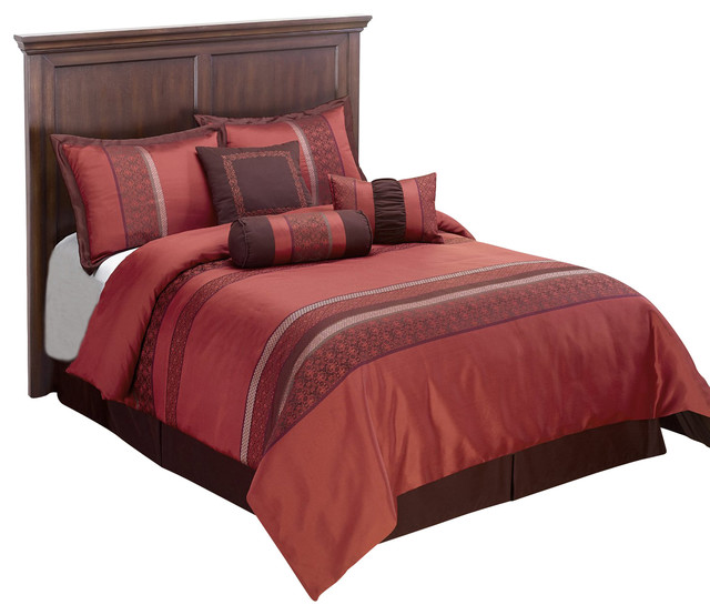 indiologie down alternative comforter set red california king traditional bedding by. Black Bedroom Furniture Sets. Home Design Ideas