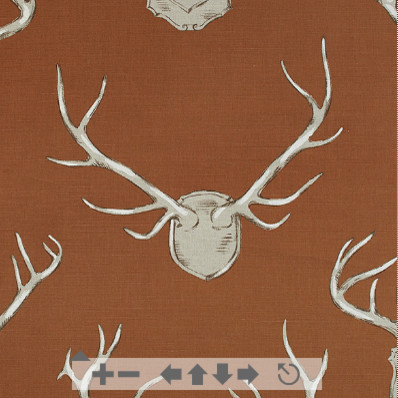 CR Laine Antlers Fabric eclectic-upholstery-fabric