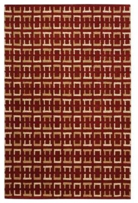 """Home Decorators Area Rug: Channels Red 5' 3"""" x 8' 3"""" contemporary-rugs"""