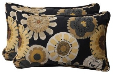 Accent any lounger or patio couch with the Pillow Perfect 18.5 x 11.5 Decorative modern-outdoor-pillows