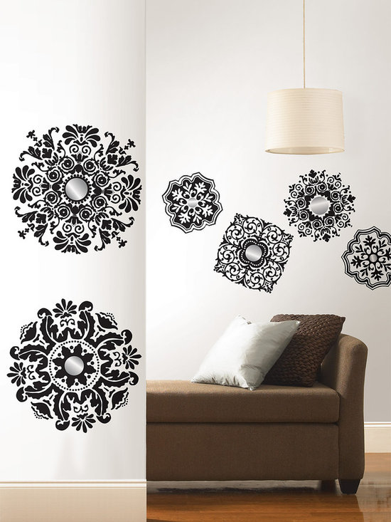 Baroque Wall Art Kit - Baroque wall art with shimmery silver mirror accents