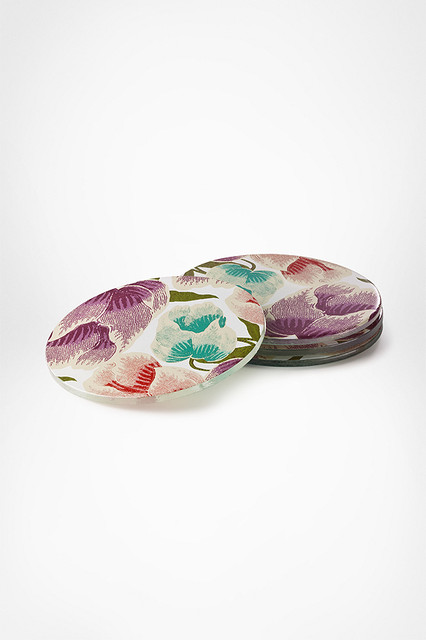 DVF Decal Coasters in Floral Batik eclectic-wine-and-bar-tools
