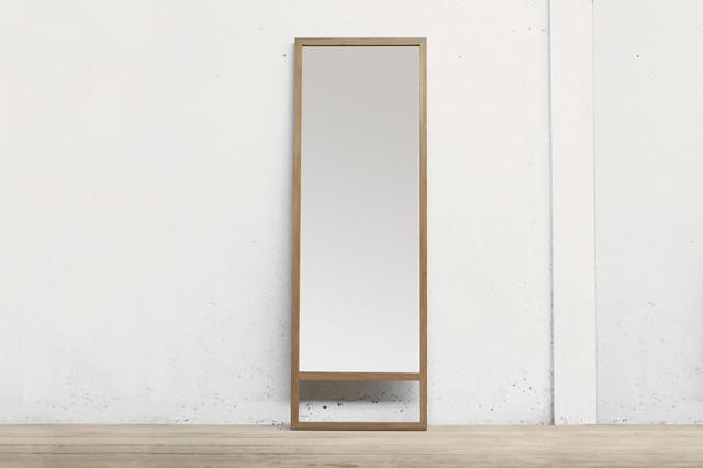 Rfb leaning mirror contemporary wall mirrors new for Leaning wall mirror