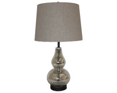White x White Callie Mercury Glass Table Lamp contemporary-table-lamps